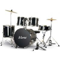 Quality Muse PVC Complete 5 Piece Junior Drum Set With Cymbal / Throne A525P-704 for sale