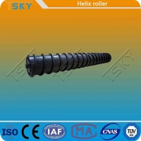 China Strong Self Cleaning Force Rubber Steel Spiral Roller wholesale