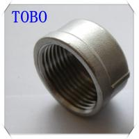 China TOBO Butt Weld Fittings Caps BS , NPT , DIN Standards Malleable Iron Pipe Fitting Cap wholesale