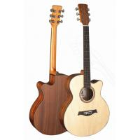 China Senior Full Size Spruce Solidwood Western Guitar / Wood Acoustic Guitar Professional TP-AG25 wholesale