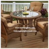 China Round Clear Safety Tempered Glass Table Top wholesale