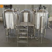 China 500 L Beer Brewing Kit Beer Making Equipment With Three Vessles Brewhouse wholesale
