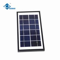 China 6V 4W aluminum frame transparent solar panel ZW-4W-6V-2 home solar photovoltaic panels portable solar charger wholesale