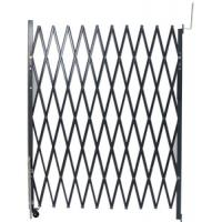 China Grey Steel Folding Security Gates For Business Metal Scissor Gate Unassembled wholesale