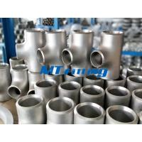 China Stainless Steel WP304L / 316L Butt Welded Flanges Pipe Fittings ASTM A815 Reducing Tee wholesale