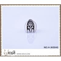China Hot Selling 316l Stainless Steel Death's - Head Ring H-JK0040 With Factory Price wholesale