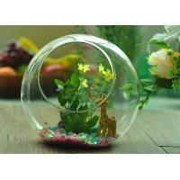 China Gift Hanging Teardrop Tealight Holder / Hanging Glass Terrarium Containers wholesale