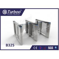 China Optical Swing Barrier Gate , Fingerprint Controlled Access Turnstiles Security Gate wholesale