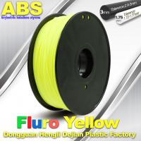 China High Precision Fluo - Yellow ABS 3D Printer Filament 1kg / Spool wholesale