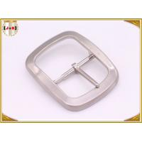 China Custom Silver Plated Pin Belt Buckle / Mens Fashion Belt Buckles wholesale