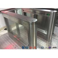 China Biometric Swing Barrier Gate Stainless Steel Acrylic Flap Barrier Gate wholesale