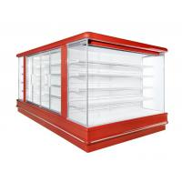 China Super Mall Open Deck Chiller Fruits Vegetable Display Showcase 2 To 8 Degree wholesale