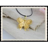 China Zinc-aluminum Alloy & 24K Gold Butterfly Pendant necklace Good Decoration For Party wholesale