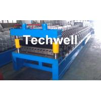 China Corrugated Profile Roll Forming Machine , Corrugated Sheet Making Machine With PLC Control System wholesale