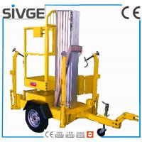 China Single Mast Hydraulic Elevating Platform , Aluminium Alloy 8m Trailer Mounted Lift wholesale