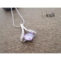 China OEM / ODM service offer 925 sterling silver gemstone pendant with zircon W-VB988 wholesale