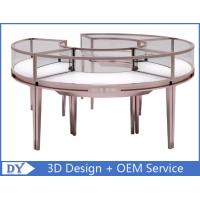 China Stainless Steel Frame Jewelry Display Cases , Jewellery Showroom Furniture wholesale