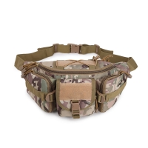 China Zipper Pillow Shape Oxford 20L Military Waist Bag wholesale