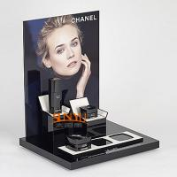 China Classical Black Acrylic Makeup Display Stand L Shaped  Detachable Vertical Part wholesale