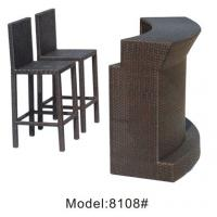 Quality 3pcs wicker  public house club counter bar  table and armless chairs-8108 for sale