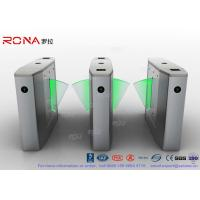 China Stainless Steel Heavy Duty Flap Barrier Gate Automatic Turnstiles For Public Facility wholesale