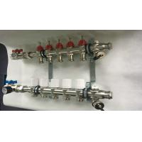 China Underfloor Heating 5 Loop Radiant House Water Manifold With Two Ball Valve wholesale