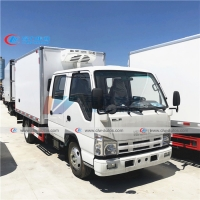 China 2T 3T ISUZU Double Row Frozen Meat Delivery Trucks wholesale