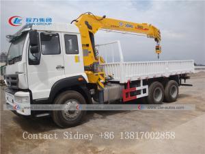 China Sinotruk Howo 6x4 8T 10 Wheel Truck Mounted Telescopic Boom Crane wholesale