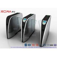Quality Standard Electric Access Control Turnstile Entry Systems Flap Barrier Gate SS for sale