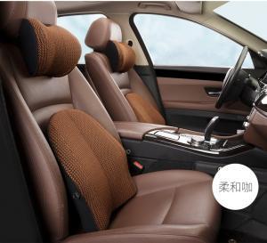 China Memory Cotton Gel Car Waist Cushion Summer Mesh Breathable Car Chair Cushion on sale