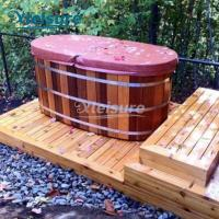 China 2 Person Wooden Hot Tub Cover Indoor Insulation Hot Tub Spa Cover Oval Shape wholesale