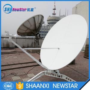 China 1.8m ku band maunal portable aluminum reflectors satellite dish antenna on sale