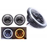"China 70W 7"" Angel Eye Jeep LED Headlights High / Low H4 Or H13 Jeep Jk Halo Headlights wholesale"