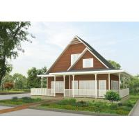 Construction Design Steel Frame Prefabricated Houses , Prefab Steel Structure Villa Building