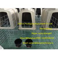 China Small Dairy Farm Plastic Calf Hutches For Calves With Hot Dip Galvanized Steel Wire Fence wholesale