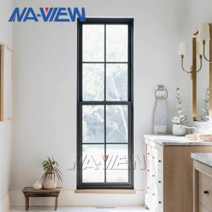 China NAVIEW Modern Custom Black Aluminium Single Hung Window wholesale