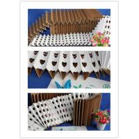 China Eco - Friendly Concertina Overspray Kraft Pleated Filter Paper 250Pa Final Pressure wholesale