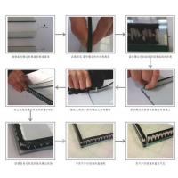 China Sealing Triple Insulated Glass Warm Edge Spacer Super Grey And Black Desiccant Layer wholesale