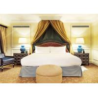 China Saudi Arabia Style 5 Star Hotel Bedroom Furniture Sets in Dark Color wholesale
