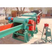 China Rotary Drum Wood Chipper Machine , Wood Shredder Machine With Base Frame Design on sale