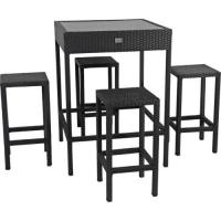 China Bar table chair rattan outdoor furniture set wholesale