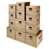 China Classic Moving Boxes Tape Free Assembly Easy Carry Handles Paper Box wholesale