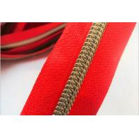 China High Quality 3#4# 5# 8# Gold and Silver Teeth Nylon Zipper For Garment and Bags wholesale