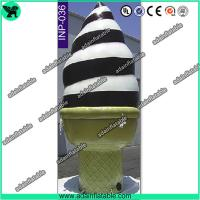 China Event Advertising Inflatable Icecream Cone/Promotion Icecream Replica Inflatable Model wholesale