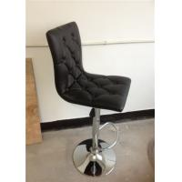 China square wood inside  PU bar stools with button in the back H-303E wholesale