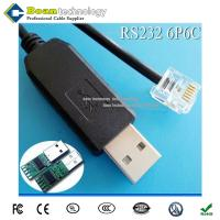 China USB to RJ11 connector for RS232 communication   RS232 Cable wholesale