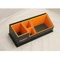 Quality 3mm Clear Simple Acrylic Office Stationery Holder With Notes Box for sale