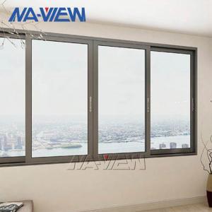 China NAVIEW Aluminium Sliding Windows PVDF Big Sliding Windows wholesale