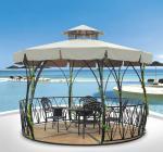 China China outdoor gazebo garden tent metal pavilion flower garden Pavilion 1117 wholesale