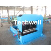 China 0-10M / Min Cold Roll Forming Equipment , Roof Sheet Making Machine 500mm Curving Radius wholesale